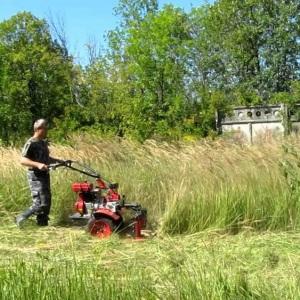 Удаление зарослей травы